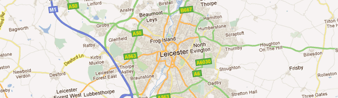 Local areas in Leicester